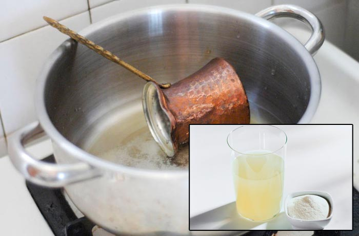 чистка нашатырным спиртом