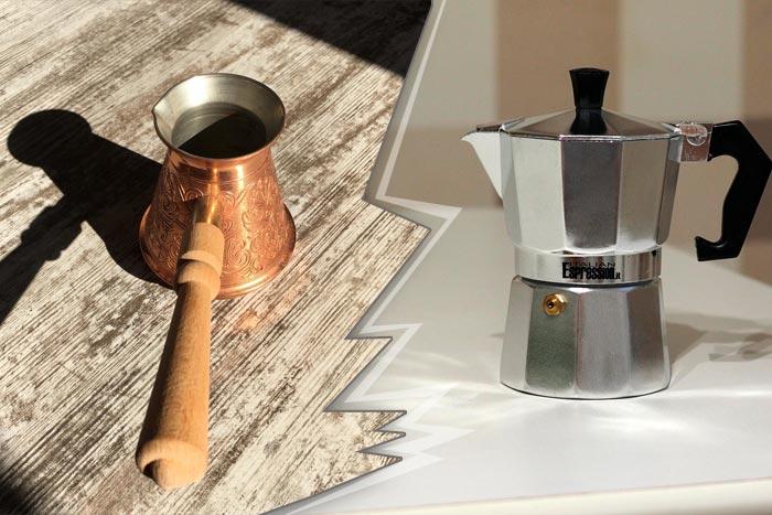 турка и кофеварка