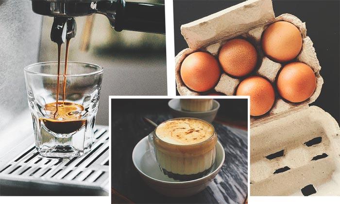 рецепт кофе с желтком