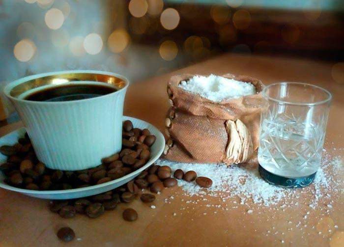 кофе соль и вода
