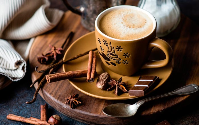 кофе ваниль и корица