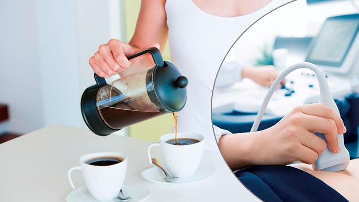 кофе перед узи