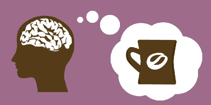 мозг думает про кофе