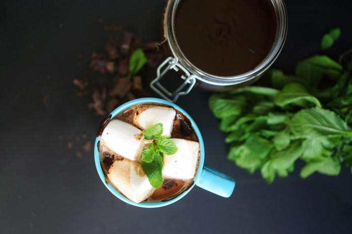 кофе с мятой и маршмэллоу