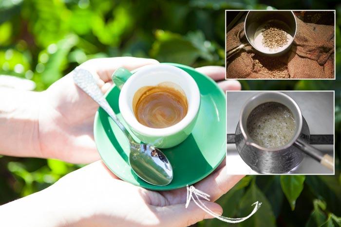 зеленый кофе в турке