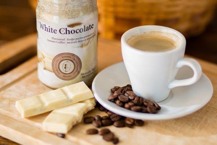 белый шоколад и кофе