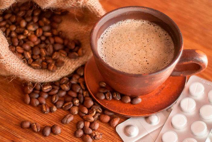 кофе и таблетки
