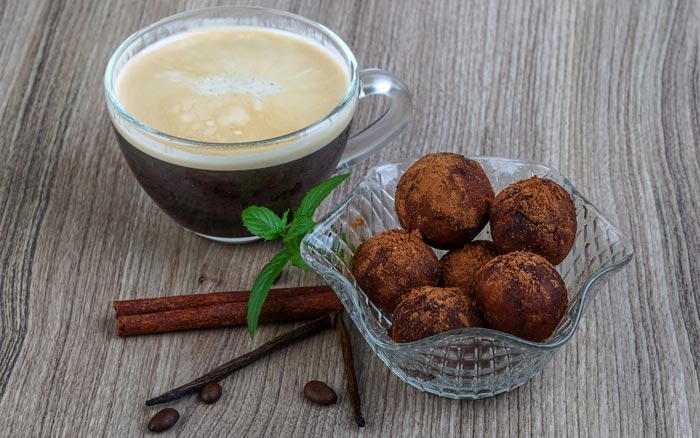 кофе с ванилью и мятой