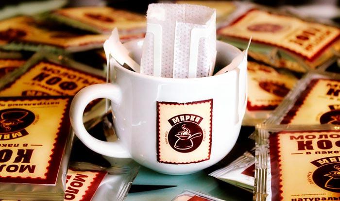 кофе в пакетиках