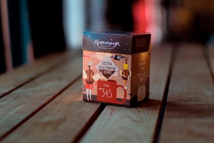 пакетики с кофе