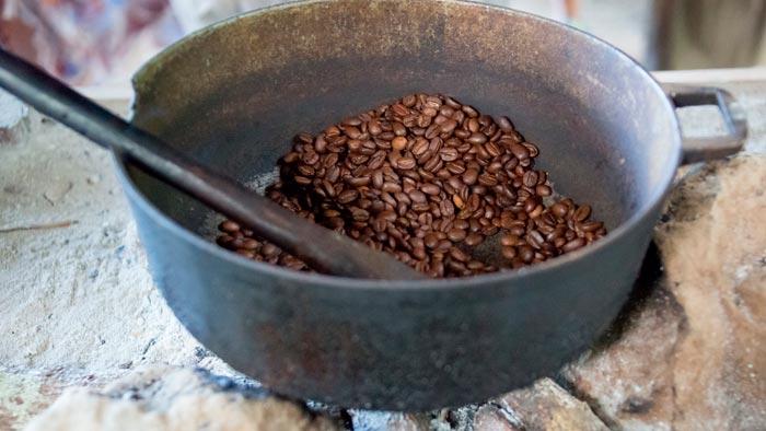 обжарка кофе на сковороде